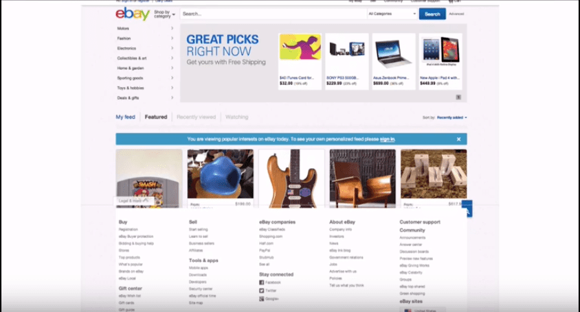 eBay marketing design