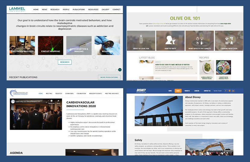website page templates